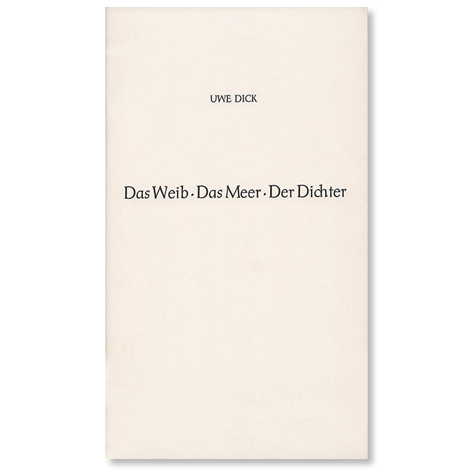 Buch von Uwe Dick Das Weib Das Meer Der Dichter