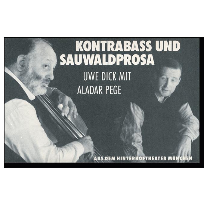 Musikkassette von Uwe Dick Kontrabass und Sauwaldprosa